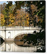 Crossing Over Into Autumn Acrylic Print