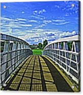 Crossing Over Bridge Acrylic Print