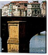 Crossing The Arno Acrylic Print
