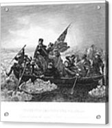 Crossing The Delaware Acrylic Print by Granger