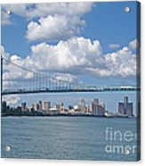 Crossing The Detroit River Acrylic Print