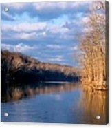 Crossing The River On Low Water Bridge Acrylic Print
