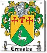Crossley Coat Of Arms Irish Acrylic Print
