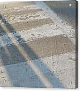 Crosswalk Shadow 2 Acrylic Print