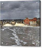 Croton Dam Flood Acrylic Print