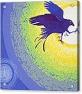 Crow, 1999 Gouache On Paper Acrylic Print