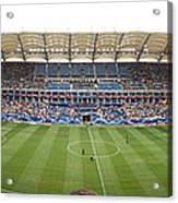 Crowd In A Stadium To Watch A Soccer Acrylic Print