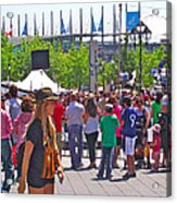 Crowd Watching Filming Of Today Show In Old Montreal-qc Acrylic Print