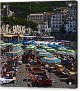 Crowded Beach Acrylic Print