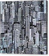 Crowded City Acrylic Print