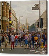 Crowds At Carnival Notting Hill Celebrations Acrylic Print