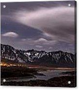 Crowley Lake At Night Acrylic Print