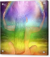 Crown Chakra Goddess Acrylic Print by Carol Cavalaris