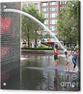 Crown Fountain Play Acrylic Print