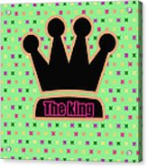 Crown In Pop Art Acrylic Print by Tommytechno Sweden