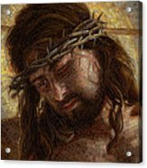 Crown of Thorns Glass Mosaic Acrylic Print