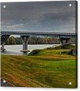 Crown Point Lake Champlain Panorama Acrylic Print