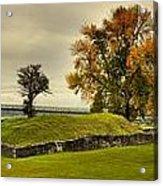 Crown Point Panorama Of The New Lake Champlain Bridge Acrylic Print