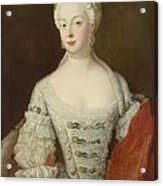 Crown Princess Elisabeth Christine Von Preussen, C.1735 Oil On Canvas Acrylic Print