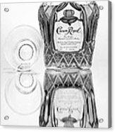 Crown Royal Black And White Acrylic Print