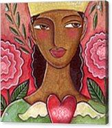 Crowned Heart Acrylic Print