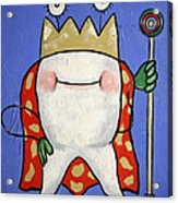 Crowned Tooth Acrylic Print by Anthony Falbo