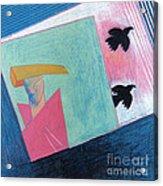 Crows And Geometric Figure Acrylic Print