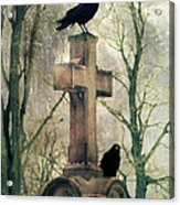 Urban Graveyard Crows Acrylic Print