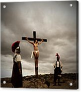 Crucifixion Scene Of Roman Movie Acrylic Print