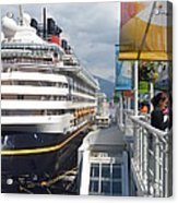Cruise Dockside In Vancouver Acrylic Print