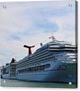 Cruise Line - Miami Florida Acrylic Print