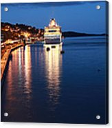 Cruise Liner At Cobh Harbour Acrylic Print by Maeve O Connell