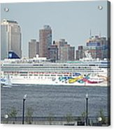 Cruise Ship On The Hudson Acrylic Print