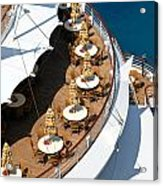 Cruise Ship Symmetry Acrylic Print by Amy Cicconi