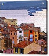 Cruise Ships At St.tropez Acrylic Print