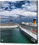Cruise Ships Port Everglades Florida Acrylic Print