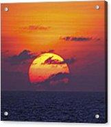 Cruise Sunset Acrylic Print