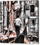 Cruisin The Canals Acrylic Print