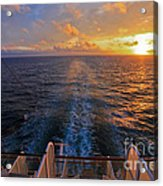 Cruising At Sunset Acrylic Print