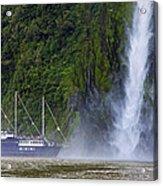 Cruising By A Waterfall Acrylic Print