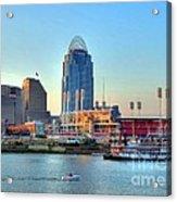 Cruising By Cincinnati Acrylic Print by Mel Steinhauer