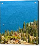 Cruising Jenny Lake Acrylic Print