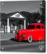 Cruising Route 66 Dwight Il Selective Coloring Digital Art Acrylic Print