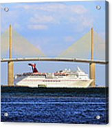 Cruising Tampa Bay Acrylic Print by David Lee Thompson