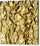 Crumpled Gold Foil Acrylic Print