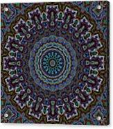 Crushed Blue Velvet Kaleidoscope Acrylic Print