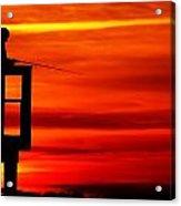 Crystal Beach Pier At Sunset IIi Acrylic Print