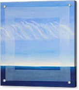 Crystal Blue Horizon - Center Panet Acrylic Print