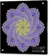 Crystal Blue Salvia Acrylic Print
