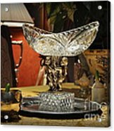 Crystal Bowl And Hyacinths Acrylic Print